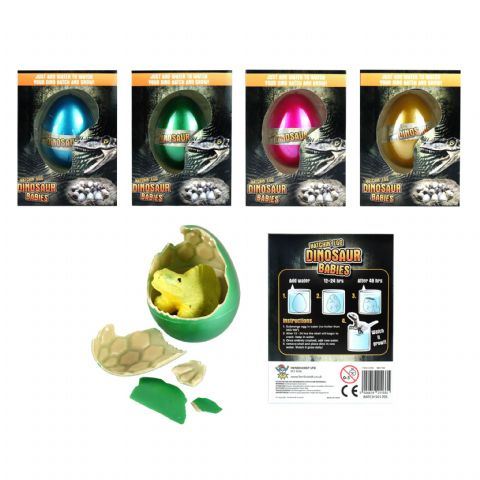 Dinosaur Babies - Hatching & Growing Egg In Assorted Colours